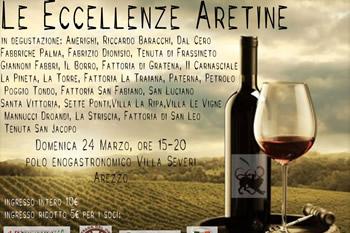 Le Eccellenze Aretine in degustazione domenica 24 marzo a Villa Severi ad Arezzo
